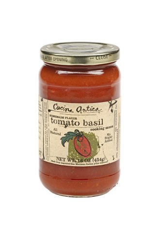 Cucina Antica Tomato Basil Sauce, 16-Ounce Jars (Pack of 6) by Cucina Antica