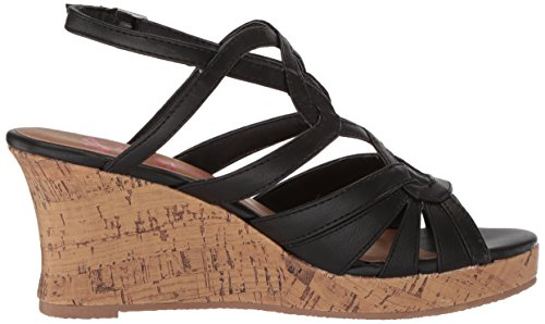 Women's Jellypop Alabama Wedge Black Sandal qBZqdr8w