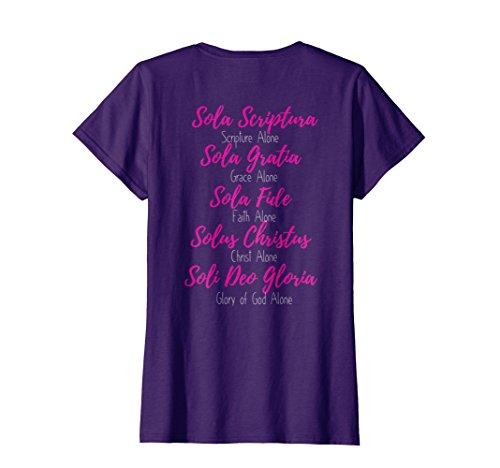 Womens Christian Tshirt Women Reformed Five Solas God Jesus XL (Halloween Ministry Ideas)