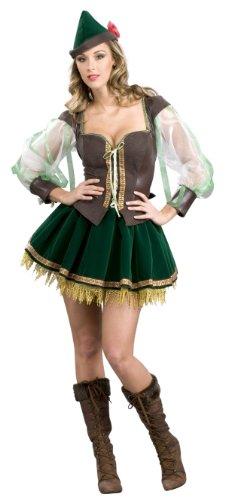 [Sexy Super Deluxe Robin Hood Costume - Womens 14-16] (Robin Corset Costume)