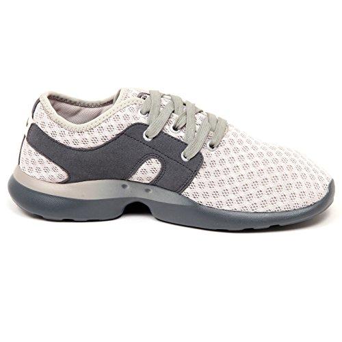 scatola Chiaro Sneaker Grigio E8258 grigio Grigio senza Ccilu grigio Uomo chiaro Uomo Scarpa qEwPOpW4