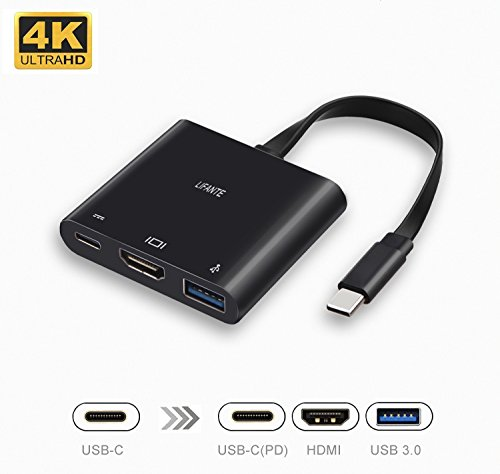 LIFANTE HDMI USB Type-C Hub Adapter for Nintendo Switch, USB C to HDMI 4K+USB 3.0+USB-C Converter Dock with Power Delivery for Switch, Dell XPS, Samsung S9/S8/S7 by LIFANTE