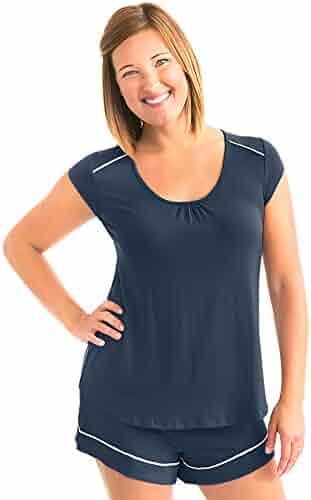 91f0673335c18 Kindred Bravely Amelia Ultra Soft Maternity & Nursing Pajamas - Shorts Set