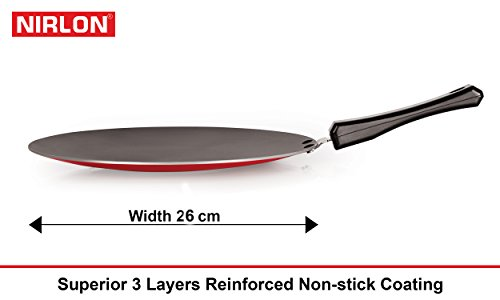 Nirlon-Non-Stick-Odor-Free-3-Piece-Gas-Compatible-Cookware-Combo-Set-Offer-with-Bakelite-Handle-Red-and-Black-Color