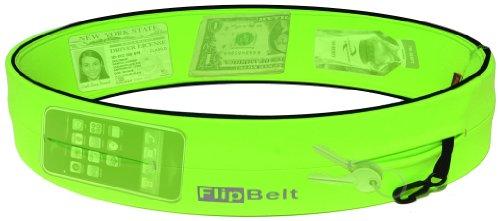 FlipBelt Level Terrain Waist Pouch, Neon Green, X-Small/22-25'' by FlipBelt (Image #1)