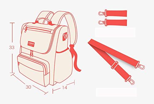Mochila de modelos clásicos, bolsa de mamá de gran capacidad ( Color : Rojo ) Rojo