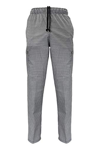 Natural Uniforms Man's Classic Chef Pants (Large, Houndstooth)