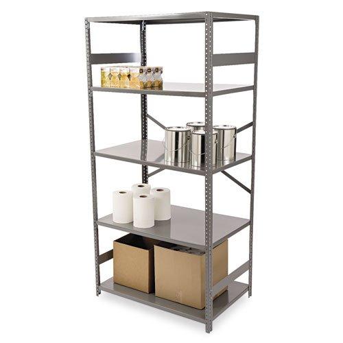 Tennsco Commercial Steel Shelving, 5 Shelves, 36w x 24d x 75h, Medium -