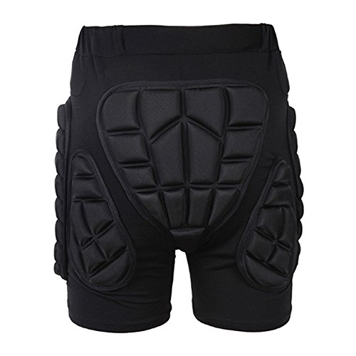 ESoku 3D Padded Shorts Impact Protection Hip Butt Underwear Pad for Snowboard Skating Volleyball Motocross Cycling (Size - Snow Skating