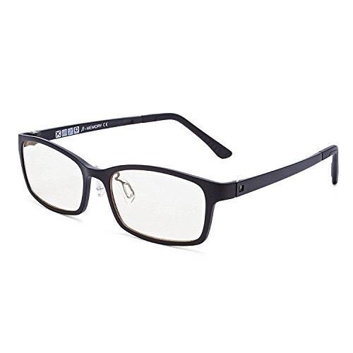 Joyutoy Anti-radiation Glasses Safety Goggle Full Rim Ergonomic Advanced Computer Glasses Anti Blu-ray Inner +0.00 Magnification (Black)