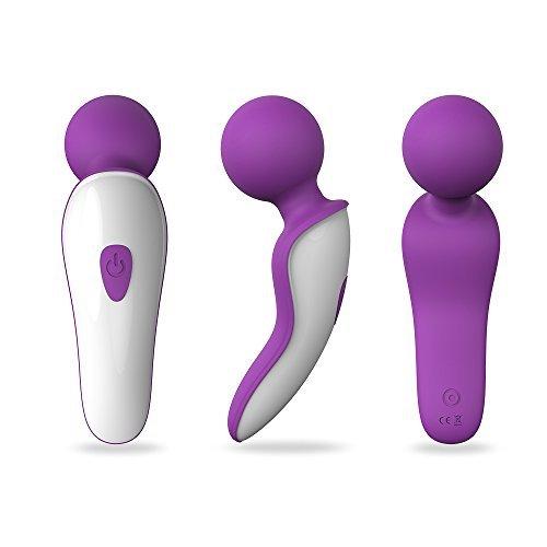 S-Hande Waterproof Wireless Extreme Power Wand Massager Handheld Mini 7X Multi-Speed (Purple) by loverbeby