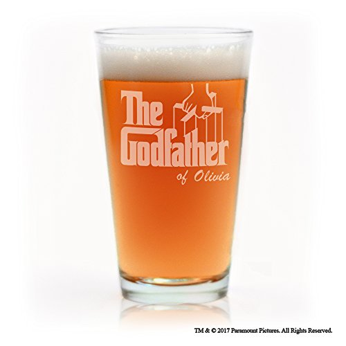 Engraved Classic Pilsner Glass (Movies On Glass - Personalized Godfather Movie Engraved Logo Pint Beer Glass)