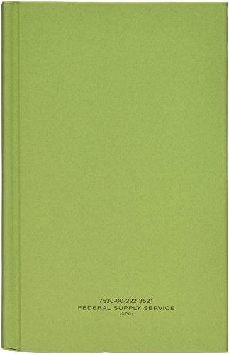 """Book, Memorandum, 5-1/2"""" X 8"""" Green Log Book (12/pack), NSN 7530-00-222-3521 from GREEN LOG BOOK"""