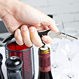 Pulltap's Double-Hinged Waiters Corkscrew, Black