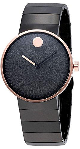 Movado Edge Black Dial Stainless Steel Ladies Watch (Mens Movado Series)