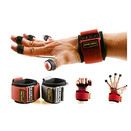 Amazon.com: Yoga mano dedos muñeca antebrazo Camilla Guante ...