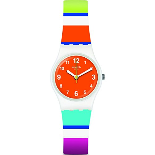 Swatch Women's Colorino LW158 Matte White Silicone Quartz Fashion Watch