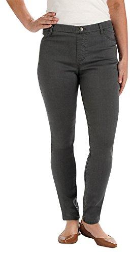 Lee Women's Easy Fit Jade Jean Legging, Platinum Gray, Large
