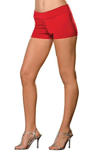 (Roxie Hot Shorts Adult Underwear Red - Plus Size 1X/2X)