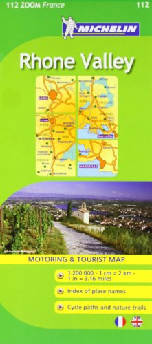 Michelin Map ZOOM France: Rhone Valley Map No. 112 (Maps/Zoom (Michelin))