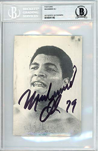 Muhammad Ali Signed Auto 1979 4x6 Postcard Vintage Signed In 1979 - Beckett ()