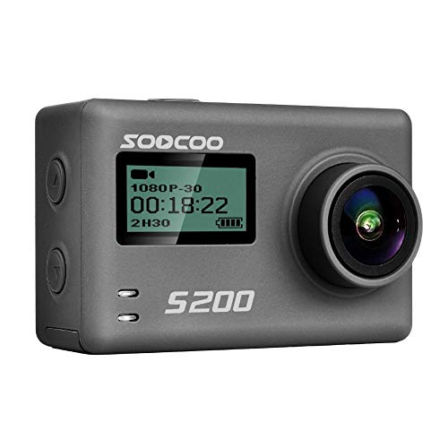 Questionno SOOCOO 2.4inch LCD Touch Screen Sports Camera-4K 24fps Ultra HD,Voice Recognition Control,GPS Track Playback 170 Degrees Adjustable Waterproof Camera -