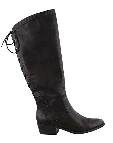 BareTraps Gardyna Lace-Up Riding Boots, Black, 11 US