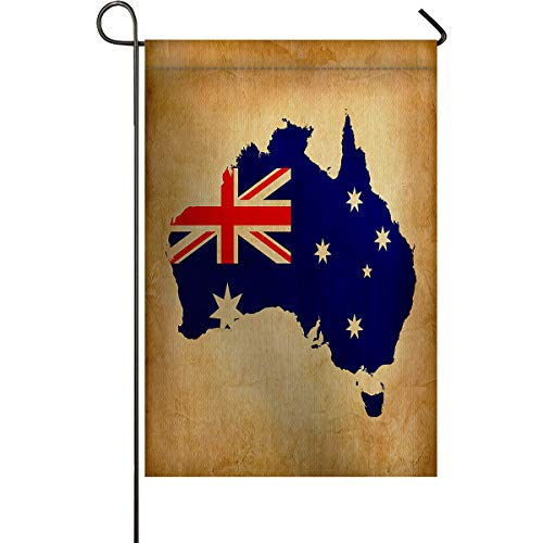 Welcome Garden Flag Vintage Australia Flag Holiday Decorative Flags Yard Flag House Banners for Indoor Outdoor/Outside Home Decor Double Side Printed Retro Theme 28x40inch]()