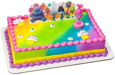 Phenomenal Amazon Com Trolls Birthday Cake Kit Kitchen Dining Funny Birthday Cards Online Bapapcheapnameinfo
