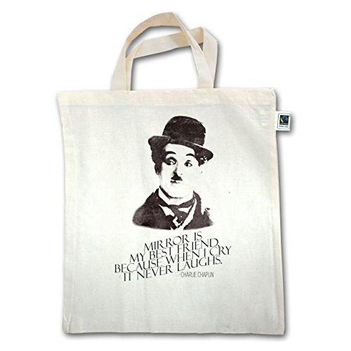 Vintage - Charlie Chaplin - Mirror Is My Best Friend - Unisize - Natural - Xt500 - Manico Corto In Juta
