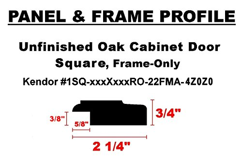 Unfinished Red Oak Frame-Only Square Door w/Midpoint Divider, 60H x 16W