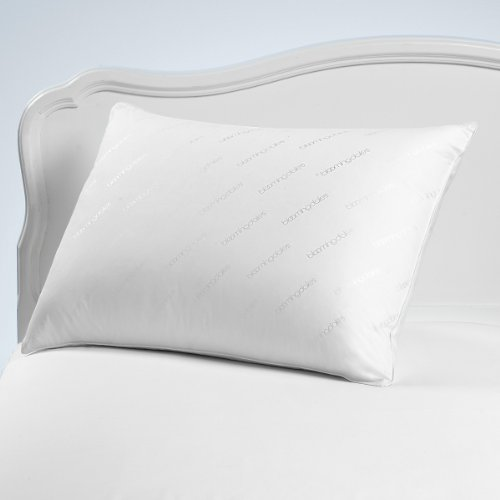 Bloomingdales Jumbo Logo Classic Standard Queen Bed Pillow