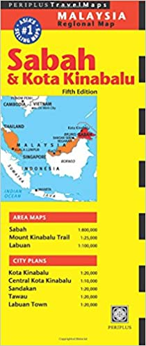 Sabah And Kota Kinabalu Travel Map Periplus Travel Maps Amazonde