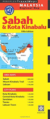 Sabah & Kota Kinabalu Travel Map Fifth Edition (Periplus Travel Maps)
