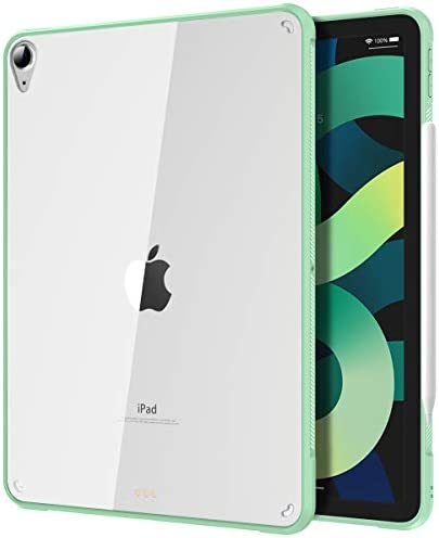 TiMOVO Case for New iPad Air 4th Generation, iPad Air 4 Case (10.9-inch, 2020), Ultra Slim Shockproof Flexible TPU Air-Pillow Edge Protective Cover, [Support 2nd Gen Apple Pencil Charging] – Green