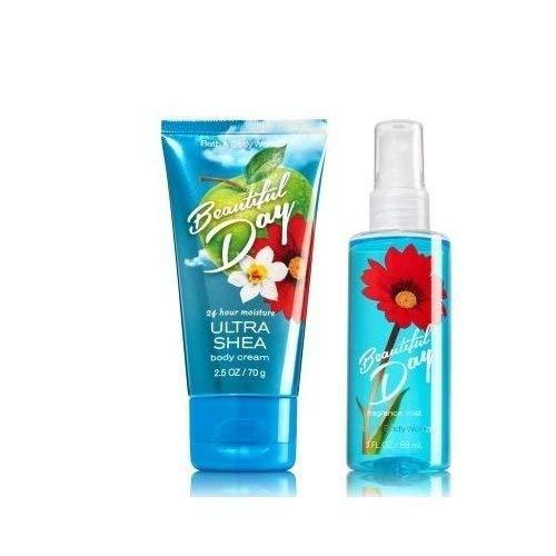 (Bath and Body Works Beautiful Day Travel Size Body Mist 3 oz and Ultra Shea Body Cream 2.5 Oz)