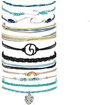 MSDADA Wave Bracelet for Women Adjustable Braided Hand Bracelet Fashion Bohemian Handmade Waterproof Friendshi