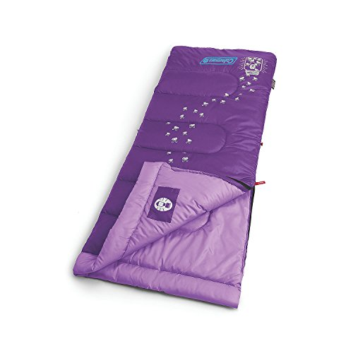 Coleman Youth Glow-In-The Dark Sleeping Bag, Purple