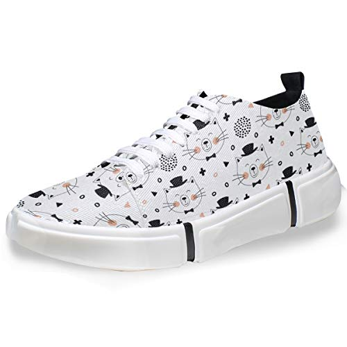 MONTOJ Men Shoes Cute Smiling Cats Pattern Men's Casual Sneaker