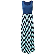 Shinekoo Women Summer Sleeveless Long Maxi Maternity Casual Striped Dress