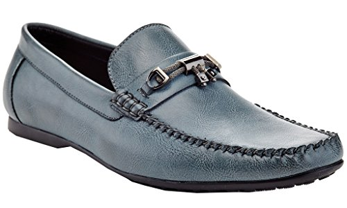 On Adolfo Shoes Slip Vanucci Driving Men's Textured Navy Cut Low Franco Loafers Karl Driving ggP6fTq