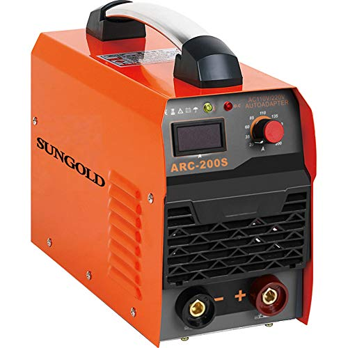SUNGOLDPOWER ARC MMA 200A Welder Dual 110V 220V IGBT Hot Start Welding Machine DC Inverter Welder 200 AMP LCD Anti-Stick (Generator Welder Dc)