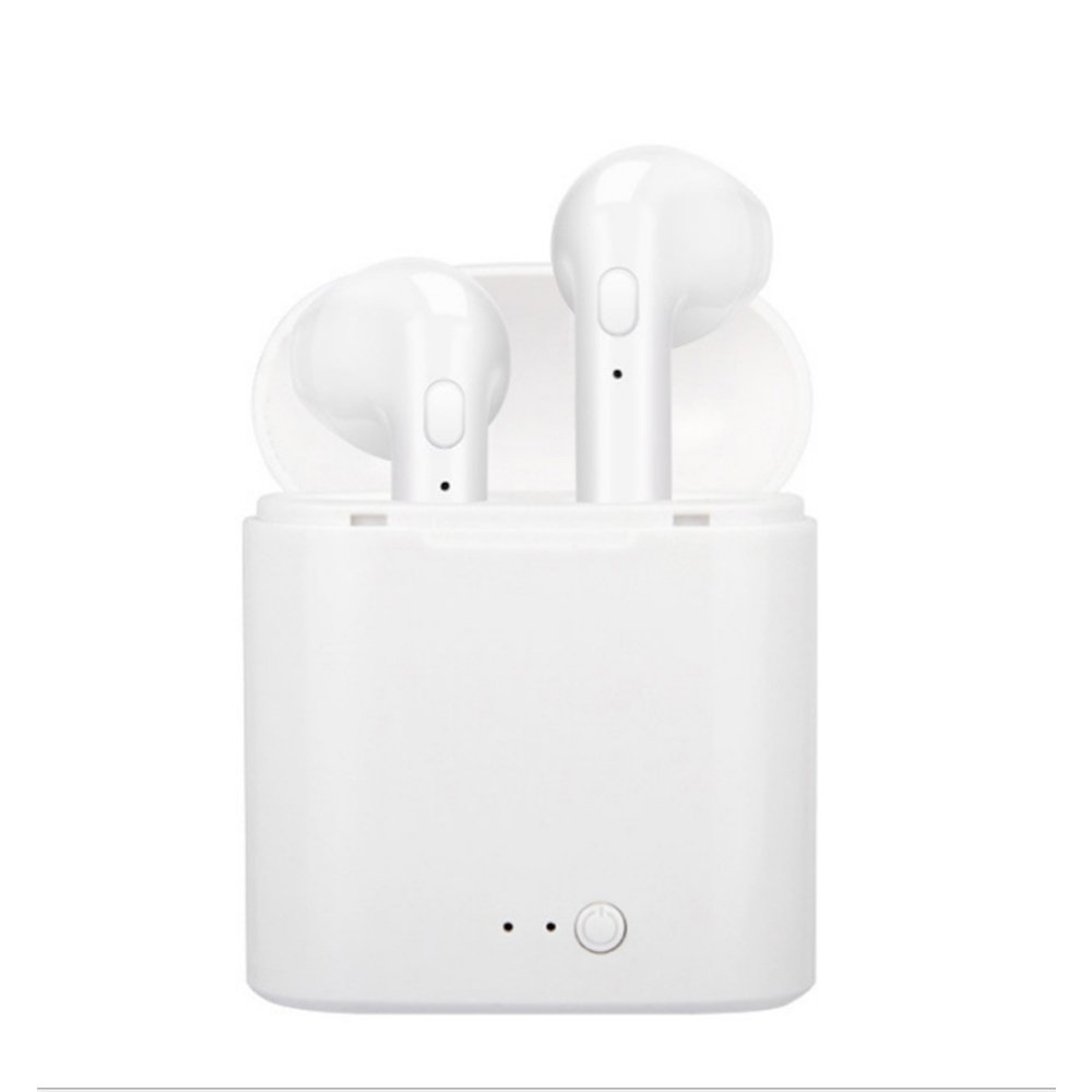 Wireless Earbuds with Mic for iPhone/Samsung, GITEM Noise Cancelling in-Ear Earphone with Charging Case Stereo Bluetooth Headset for Android Cellphone and Tablet (White)