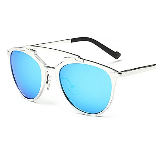 Plata Sunglasses Lente La Blue Yxsd Retro Fashion 80s Color Aviator Shades UV400 Designer Ladies Unisex Estilo Men's ZcqrW5q6P