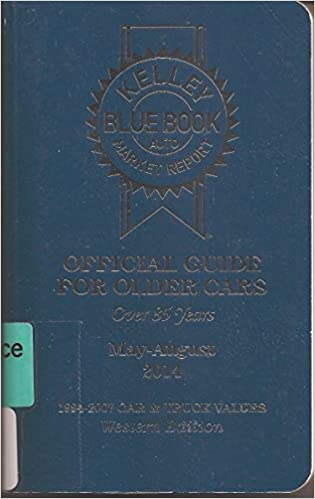 Kelly Blue Book Official Guide For Older Cars 1979 1992 Car