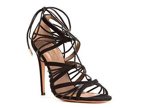 Negro Zapatos Aquazzura Cuero Vehhigs0sun000 Mujer PxnZaqCp