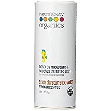 Nature's Baby Organics USDA Silky Dusting Powder, Fragrance Free, 4 oz.   Skin Relief - Babies, Kids, Adults! Natural, Gentle, Soft for Chafing   No Synthetics, Preservatives, Cornstarch, or Talc