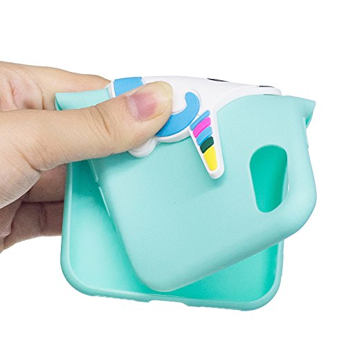 iPhone X Hülle , Leiai 3D Einhorn Leicht TPU Weich Tasche Schutzhülle Silikon Etui Handyhülle Stoßdämpfende Schale Fall Case Shell für Apple iPhone X