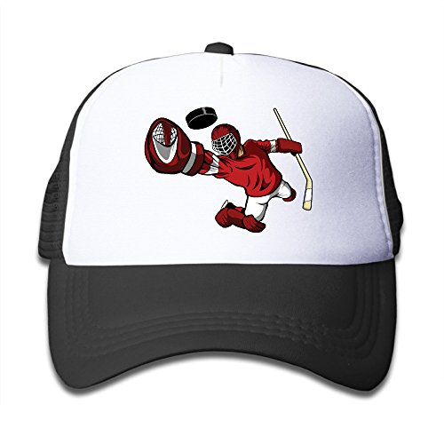 Price comparison product image Black Youth Hockey Ball Player Funny Adjustable Baseball Cap For Children One Size