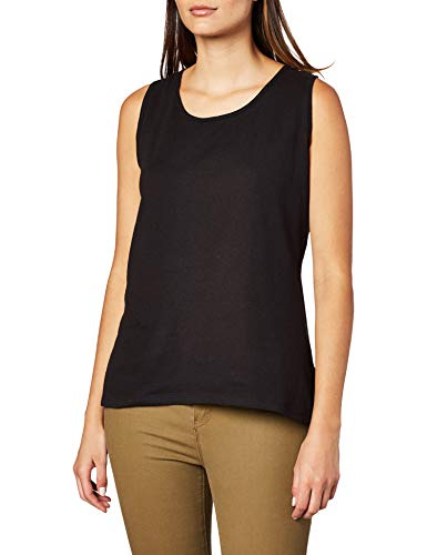 Hanes Women's Mini-Ribbed Cotton Tank, Black, Large from Hanes